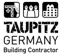 26191_Logo_Taupitz_Germany_Building_Contractor_129x115px_schwarz